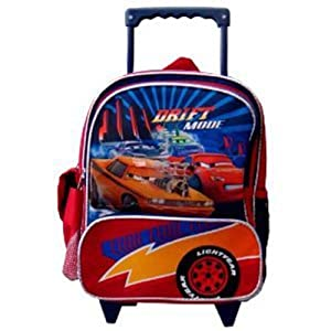 Cars Small Roller Backpack- Disney Cars Mcqueen Rolling Backpack (kid size)