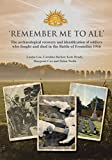 img - for 'Remember Me To All': The archaeological recovery and identification of soldiers who fought and died in the battle of Fromelles 1916 book / textbook / text book