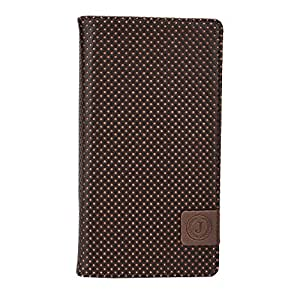 Jo Jo Cover Big Bang Series Leather Pouch Flip Case For Samsung Galaxy Premier Dark Brown Orange