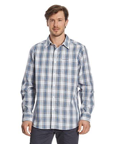 Craghoppers Camisa Hombre Rocio Lsle Azul Claro / Blanco