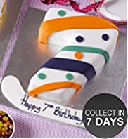 Stripes & Spots Number Cake (Single Number)