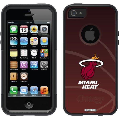 Special Sale Miami Heat - bball design on a Black OtterBox® Commuter Series® Case for iPhone 5s / 5