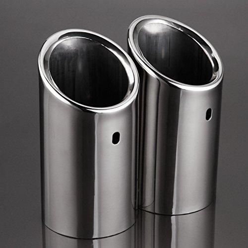 2x embout sortie echappement tuyau gaz pot silencieux inox pour audi a4 b8. Black Bedroom Furniture Sets. Home Design Ideas
