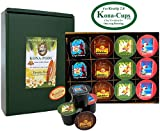 Exclusively for Keurig Model 2.0, Variety Pack of 100% Kona Coffee and Luxurious Kona Blend Coffee K-cups, Box of 12 K-cups for Keurig 2.0
