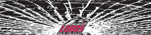 New Mexico Lobos Shattered Auto Visor Decal