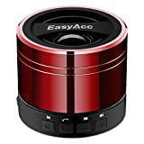 Bocina EasyAcc Mini Portátil Bluetooth para teléfonos ingeligentes, tabletas PC, Laptops soporta reproducir desde una MicroSD y función FM, Rojo