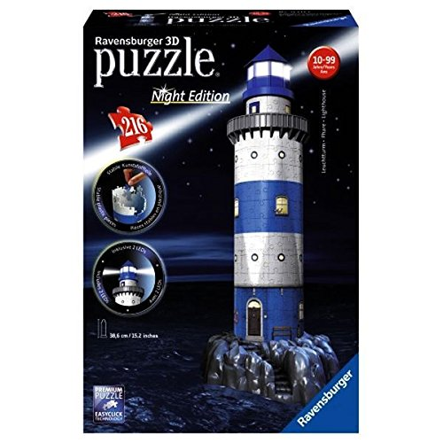 Ravensburger - 3D Puzzle Building Faro Night (12577 7)