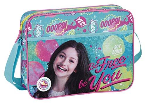 """Soy Luna Tracolla, con scritta: """"Be Free"""", Colore: Blu/Rosa"""