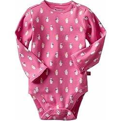 GAP(ギャップ) baby GAP ペンギン ロンパース 長袖 (ブルー・ピンク)【月齢:3ヶ月~6ヶ月】(並行輸入品) (ピンク)