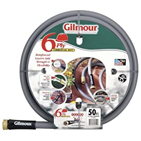 Gilmour 29 Series 6 Ply Commercial Rubber/Vinyl Hose 5/8 Inch x 50 Feet 29-58050 Gray