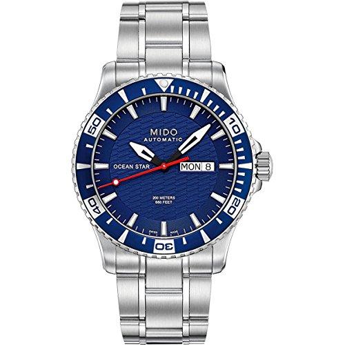 mido-herren-armbanduhr-xl-ocean-star-analog-automatik-edelstahl-m0114301104102