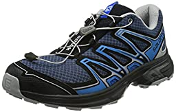 Salomon Men\'s Wings Flyte 2 Trail Running Shoe, Slate Blue/Aluminium/Union Blue, 10 D US