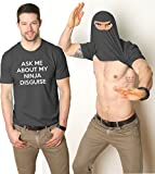 Ninja Face T Shirt Cool Ninja Disguise Funny Shirt XL
