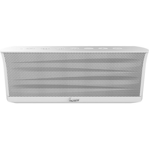 Iluv Mobiout Splash-Resistant Wireless Bluetooth Speaker With Jump-Start (White)