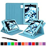 roocase Kindle Fire HD 7 2014 Case, new Kindle Fire HD 7 Dual View Folio Case with Sleep / Wake Smart Cover with Multi-Viewing Stand for All-New 2014 Fire HD 7 Tablet (4th Generation), Blue