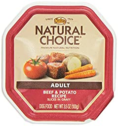 NUTRO 791715 24-Pack Natural Choice Beef/Potato Stew Food for Dogs, 3.5-Ounce