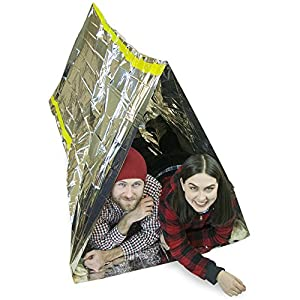 Emergency Shelter Tent, Reflective Tube Tent, Cold Weather Emergency Shelter, Emergency Zone Brand (1 Pack)