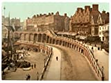 Victorian View of the New Road, Ramsgate, Kent, England, Large A3 size 41 by 28 cm Canvas Textured Fine Art Paper Photo Print