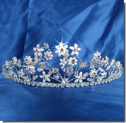 Bridal Wedding Tiara Crown With Flowers 46496