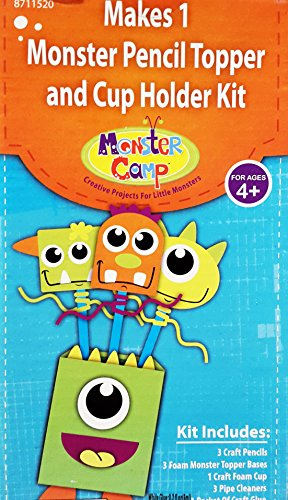 Monster Camp Monster Pencil Topper and Cup Holder Kit