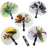 Mini Paper Oriental Folding Fans (1 dz)