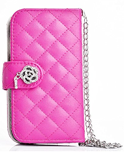 Mylife (Tm) Hollywood Pink - Glamerous Design - Textured Koskin Faux Leather (Card And Id Holder + Magnetic Detachable Closing) Slim Wallet For Iphone 5/5S (5G) 5Th Generation Smartphone By Apple (External Rugged Synthetic Leather With Magnetic Clip + Int