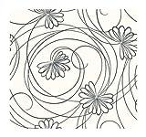 York Wallcoverings Tres Chic BL0340 Script Floral Wallpaper, White/Black