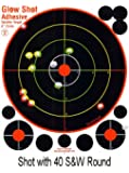 "25 Pack - 8"" Reactive Splatter Targets - Adhesive and TagBoard - Glowshot - Gun and Rifle Targets"