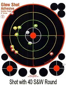 "75 Pack - 8"" Reactive Splatter Targets - Glowshot - Multi Color - Gun and Rifle Targets - Glow Shot (Adhesive Multi-Color - 75 Pack)"