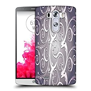 Snoogg Abstract White Grey Pattern Printed Protective Phone Back Case Cover For LG G3