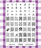 """2013 neue Kollektion von Stamping Nail Art Jumbo Schablone 8 """"Princess Charming"""", von Cheeky."""