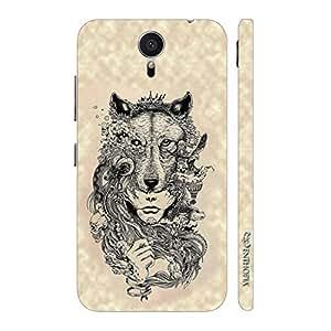 Enthopia Designer Hardshell Case Exotic Wolf Head Back Cover for Meizu M2 Note