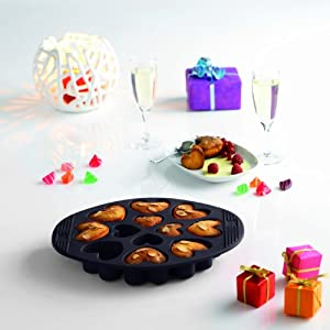 Silicone Heart-Shaped Muffin Pan by Orka
