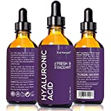 2 oz Hyaluronic Acid - Facelift in a Bottle #2 - 100% Vegan Professional Hydrating Serum - SEE RESULTS OR - Big 2 ounce (Twice the Size) Wrinkle Filling Hyaluron - PLUMP YOUR SKIN INSTANTLY