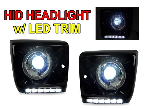 02-06 Mercedes W463 G Wagon Bi-Xenon Hid Projector Headlights + Blk Drl Led Covers - Super Nice!!!