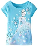 Disney Little Girls' Cinderella Turquoise Short-Sleeve Tee