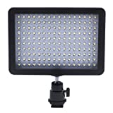 Bestlight Ultra High Power 160 LED Video Light Panel with Shoe Adapter and Panasonic Li-ion Battery Adapter for Canon, Nikon, Olympus, Pentax DSLR and Camcorders