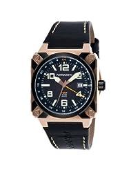 Torgoen Swiss Men's T26105 T26 GMT Rose-Tone Aviation Watch