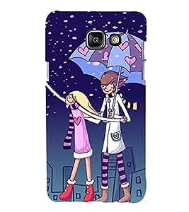 printtech Love Couple Heart Back Case Cover for Samsung Galaxy A7 (2016)
