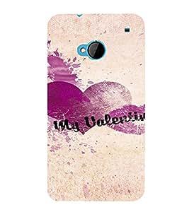 PrintVisa Be My Valentine Design 3D Hard Polycarbonate Designer Back Case Cover for HTC One M7