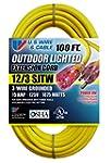 US Wire 74100 12/3 100-Feet SJTW Yell...