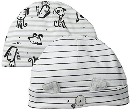 Absorba Baby-Boys Newborn B Puppy 2 Pack Cap Set, Printed, One Size front-641181
