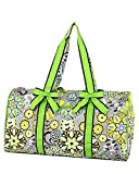 "Belvah Quilted Paisley & Floral Large 21"" Duffle Bag"