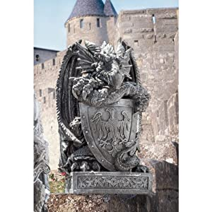 Design Toscano CL2885 Arthurian Dragon Shield Statue