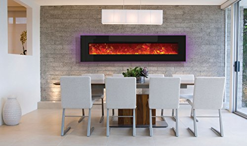 Amantii Advanced Series Wall Mount/Built-in Electric Fireplace, 76-Inch