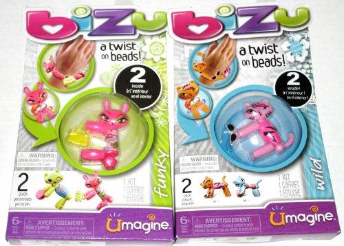 Bizu Umagine Wild & Funky 2 Pack Twist on Beads Set 112 & 113 - 158 & 159 Spin Master