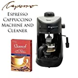 Capresso 303.01 4-cup Espresso Cappuccino Machine and Cleaner Bundle