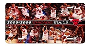 Chicago Bulls License Plate Sign 6'' x 12'' New Quality Aluminum