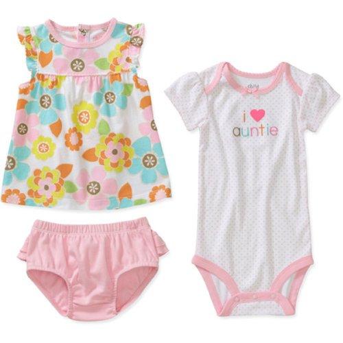 Carter'S Pink Floral Short 3 Piece Set I Love Auntie 6-9 Months