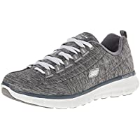 Skechers Womens Synergy Spot On Shoes (Grey / Taupe)